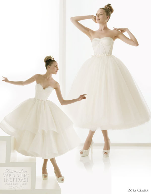Rosa Clara 2011 bridal gown collection - Short ballet length wedding dress, Epico and Erudito (with ruffle skirt)