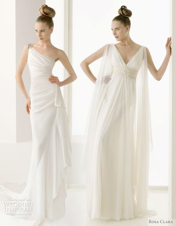 Rosa Clara 2011 wedding dresses sexy sheaths Greek goddess style bridal