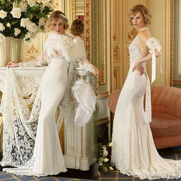 Yolan Cris vintage inspired lace wedding Dresses Divas 2010 collection
