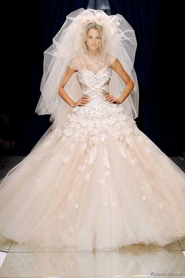 Zuhair Murad Couture Fall/Winter 2010-2011 - the finale ballgown wedding dress worn with veil