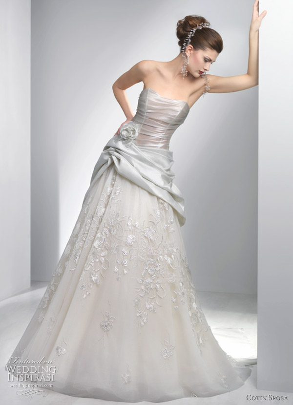 Color wedding dresses by Cotin Sposa 2011 bridal collection