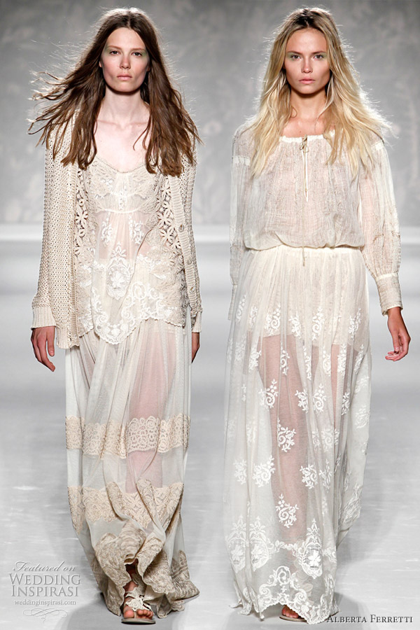 longsleeve dress on the left which has a hippie bohemian chic vibe