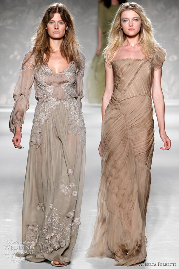 wedding dress bohemian chic 2011