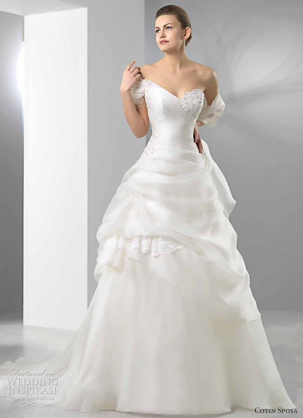 Cotin Sposa Wedding Dress 2011 bridal collection Aline wedding gown with
