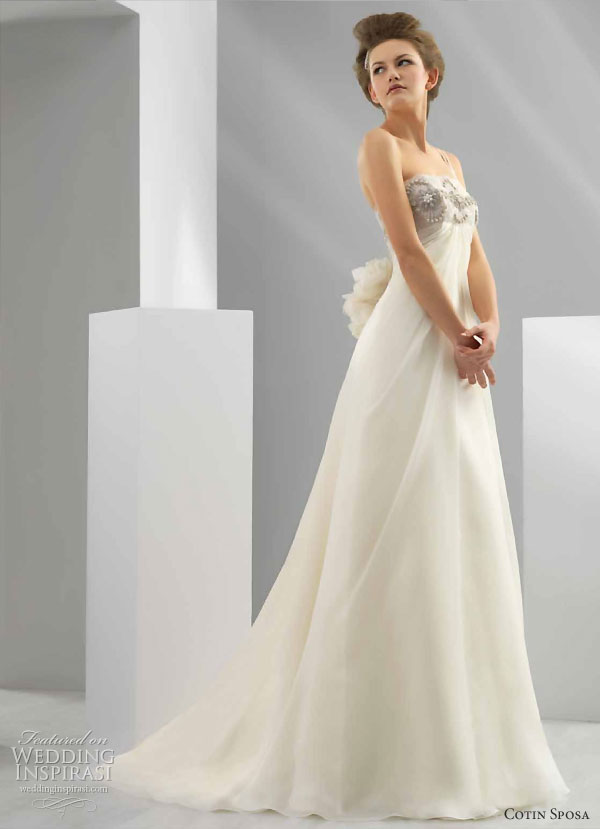 Cotin Sposa Wedding gown 2011 bridal collection Aline wedding dress with