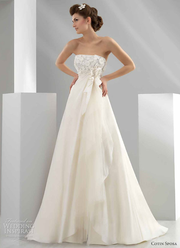 Cotin Sposa Wedding Gown 2011 bridal collection - strapless A-line wedding dress