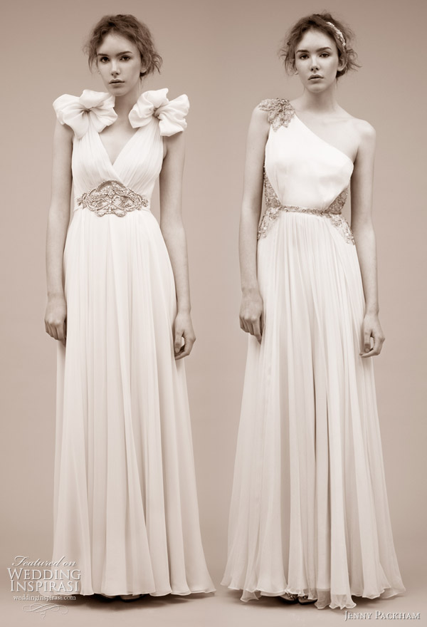 Jenny Packham wedding gowns 2011 bridal dress collection -- Saskia and Gaia
