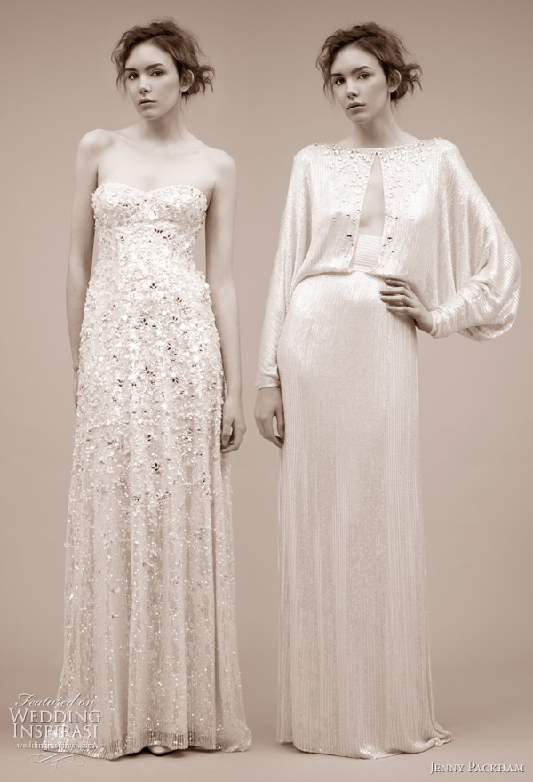 Belita and Antonella wedding gown from Jenny Packham 2011 bridal gown collection