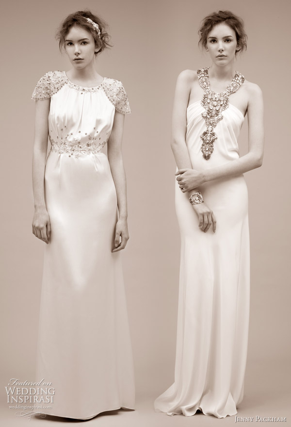 Asteria and Eve wedding dresses from Jenny Packham 2011 bridal gown collection