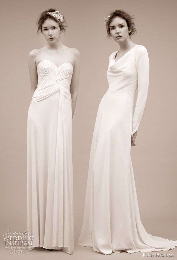 Berkley and Yevonde wedding gowns from Jenny Packham 2011 bridal dress collection