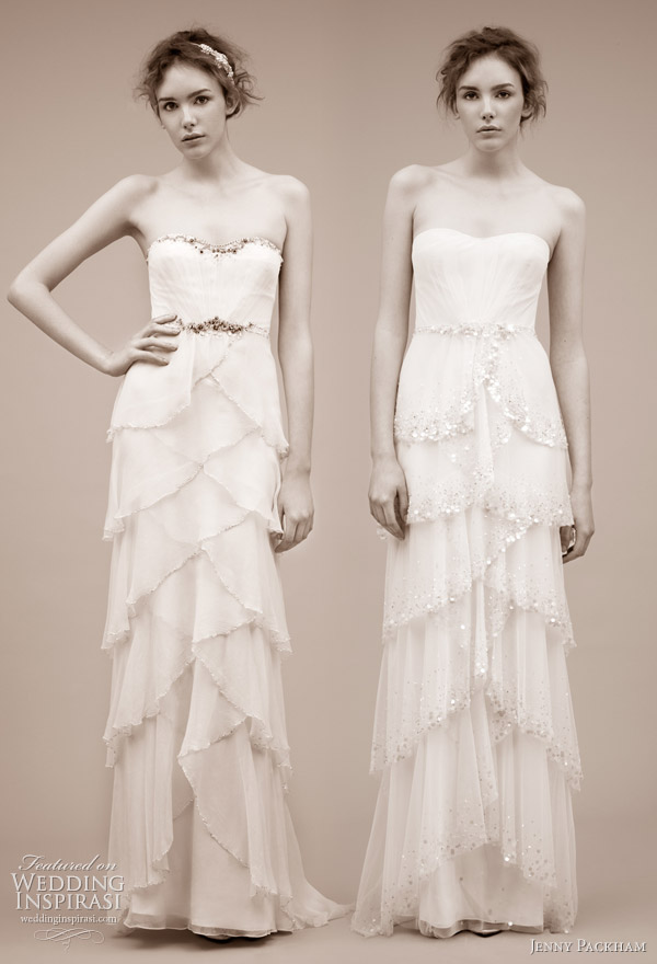 Jenny Packham wedding dress 2011 bridal gown collection -- Giralda and Cascade