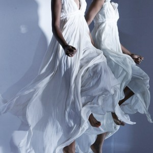 Lanvin wedding gown worthy ecru Techno satin dress - from the Spring/Summer 2011 pre-collection
