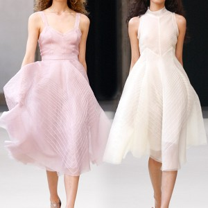 Luisa Beccaria short, airy spring dresses from her 2011 Spring/Summer collection