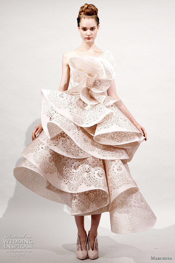 Marchesa 2011 Spring/Summer ready-to-wear collection -  beautiful ruffle cutout dress
