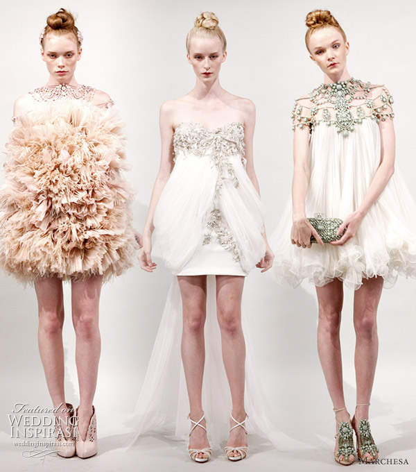 Marchesa 2011 Spring/Summer rtw short dresses