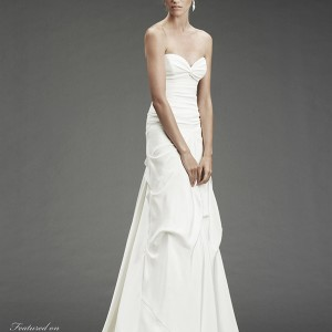 Nicole Miller 2010 wedding dress - silk stretch strapless gown with sweetheart neckline