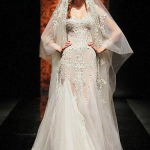 Randa Salamoun wedding dress from Couture Fall/Winter 2010-2011, worn with veil