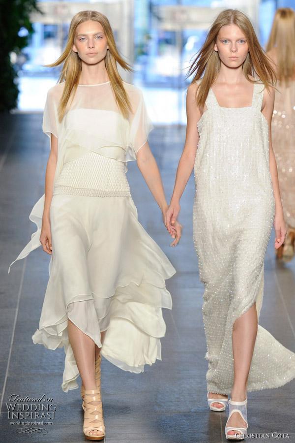 Christian Cota 2011 Spring/Summer runway white dresses