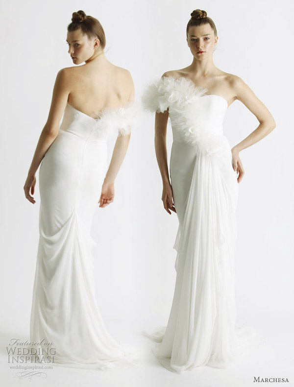 Column wedding gown from Marchesa Spring 2011 bridal collection