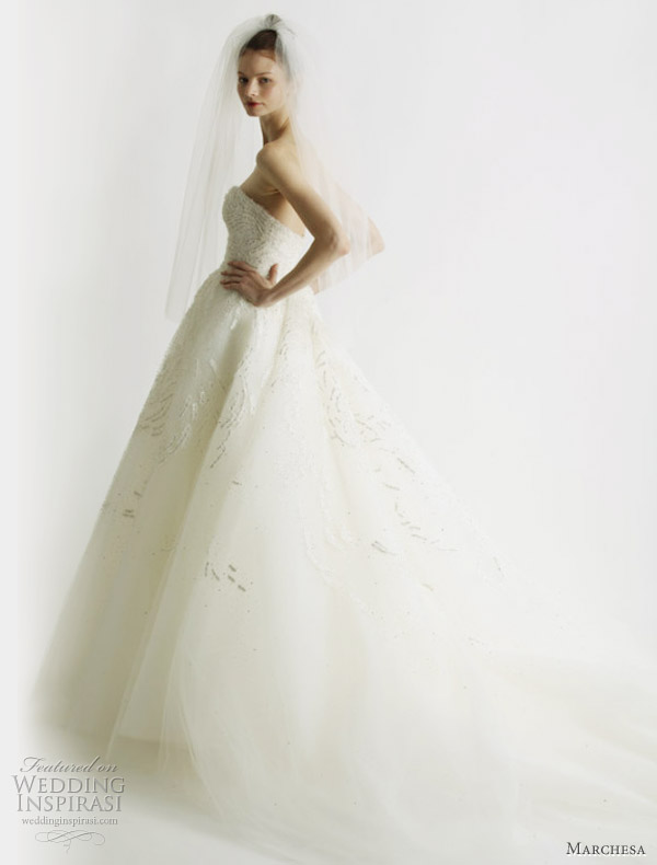Marchesa ball gown - from Marchesa Spring 2011 wedding dress collection
