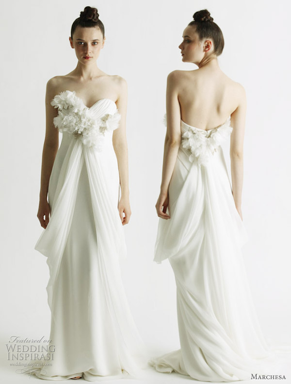 Marchesa wedding gowns Spring 2011 - draped strapless bridal gown