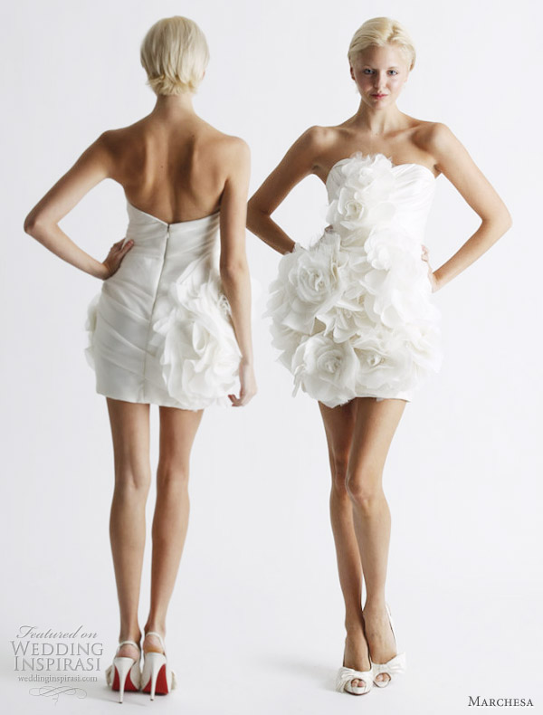 Short wedding dress from Marchesa Spring 2011 bridal collection