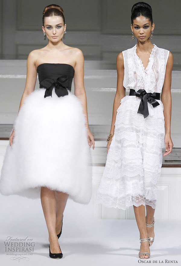 Black and white dresses from Oscar de la Renta Spring 2011 ready to wear collection