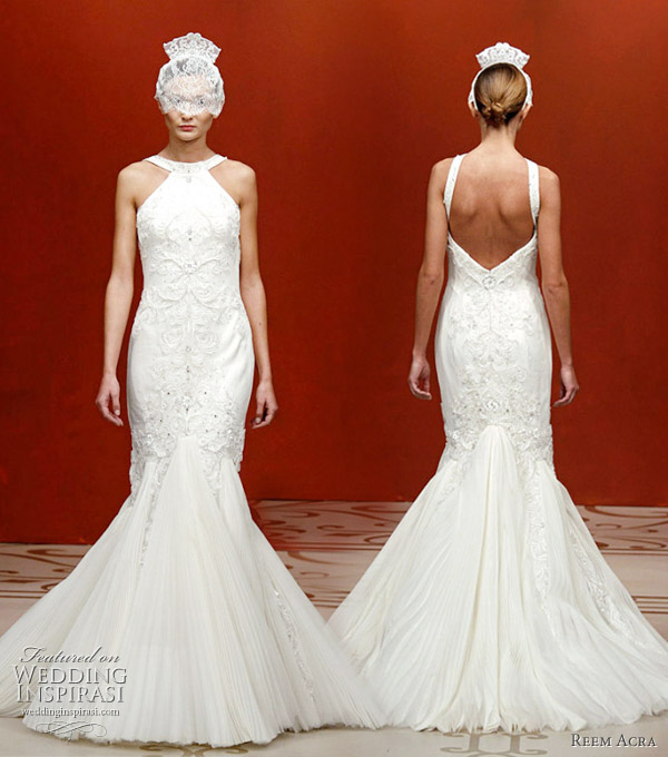 Reem Acra Fall 2011 wedding dress seen at the New York Bridal Market, worn with animal ear veil