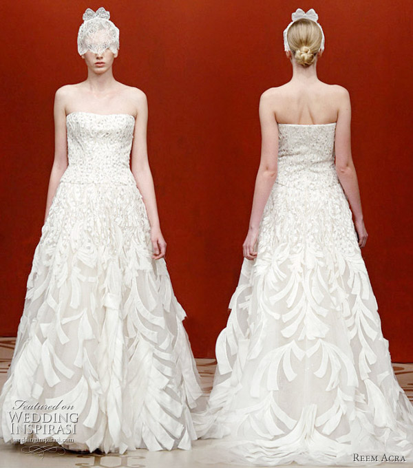 Reem Acra Fall/Winter 2011 wedding dress seen at the New York Bridal Market