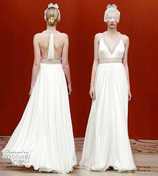 Reem Acra wedding dress Fall Winter 2011 seen at the New York Bridal Market