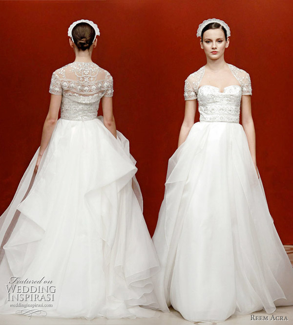 Reem Acra wedding gowns 2011 fall bridal collection