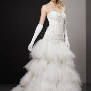 Ice Cream wedding dress - Aurye Mariages 2011 bridal gown collection