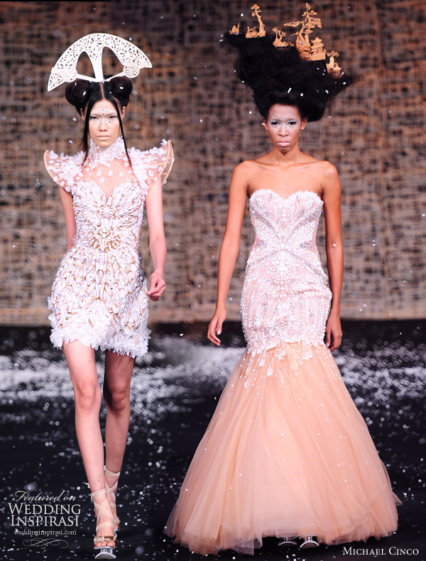 Fall/Winter 2010-2011 Haute Couture Wedding dresses by philippines-born fashion designer Michael Cinco