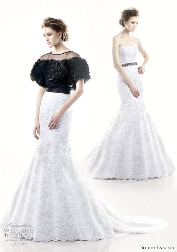 black white wedding dresses