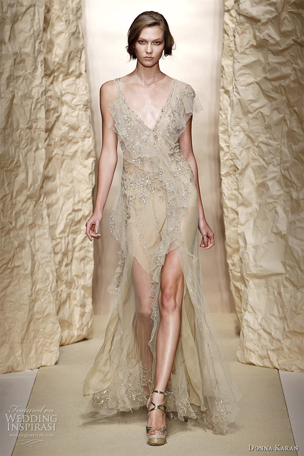 donna karan spring summer 2011 wedding inspirasi
