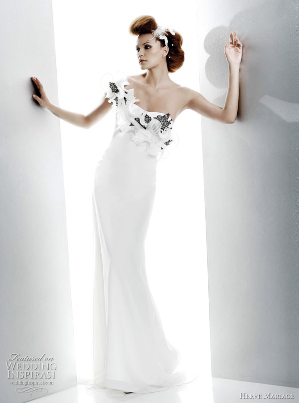 Herve Mariage wedding gown 2011 Ibiza bridal dress with color accents