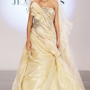 Jean Fares gold wedding dress from the Fall/Winter 2010-2011 couture collection