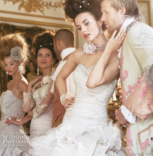 Marie Antoinette wedding gowns from Ian Stuart Revolution Rocks 2011 bridal collection showing Flower Bomb dress