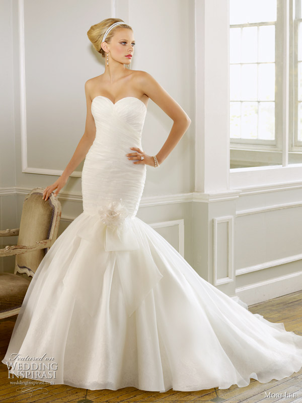 Mermaid style wedding dress by Mori Lee Spring 2011 bridal collection