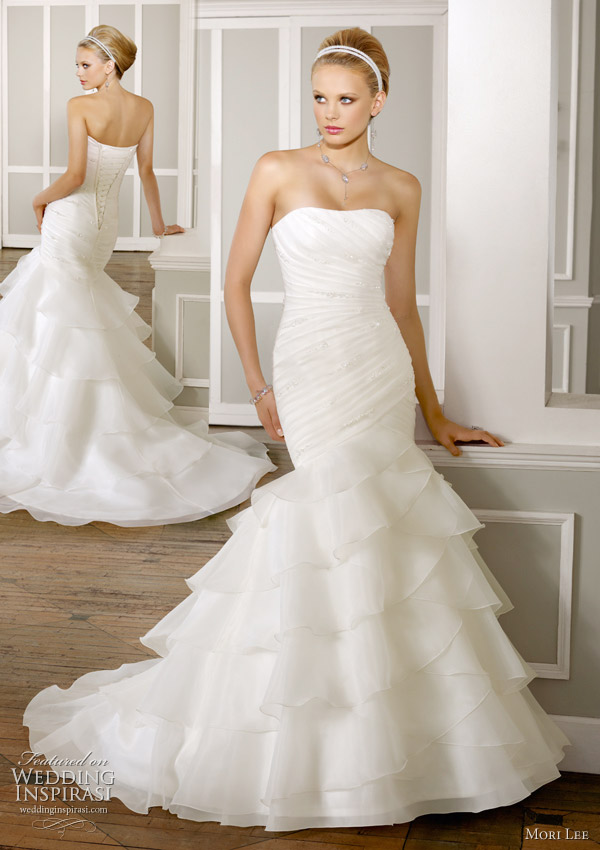 Mori lee wedding dresses mermaid style