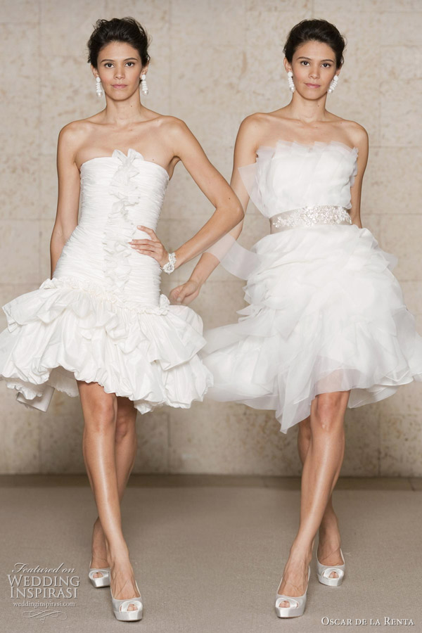 Oscar de la renta wedding dresses fall 2011 wedding for Oscar de la renta short wedding dress