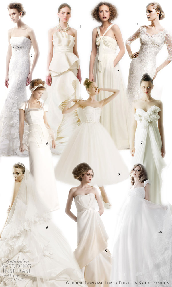 2011 trends in wedding dresses we like to see continue from 2010 year in bridal fashion