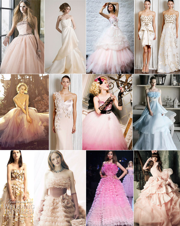 Wedding Dresses With Little Color : Color wedding dresses top bridal trends no