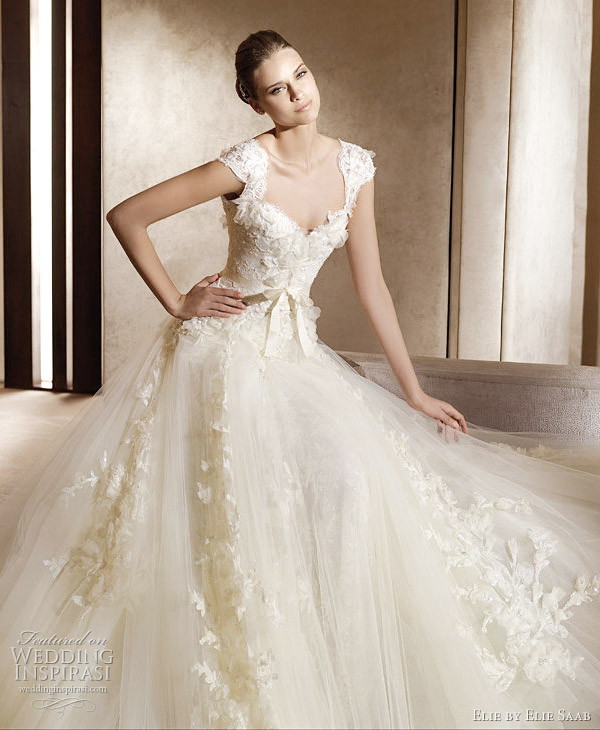 Elie Saab wedding dress 2011 - Aglaya cap-sleeve wedding gown