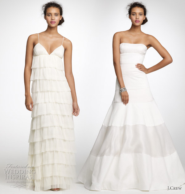 JCrew Spring 2011 bridal collection tiered wedding gown strapless