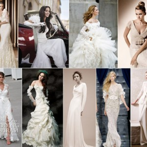 Wedding gowns with sleeves - cap sleeves, detachable, ruffled, bolero, long sleevewedding dresses
