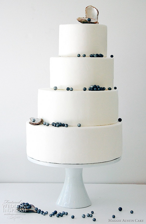 Maggie Austin Cake - Black pearl 4-tier wedding cakes