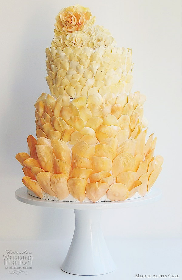 Maggie Austin Cake - Petals wedding cake alternative