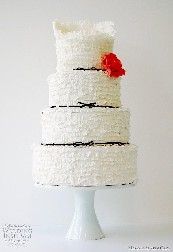 Maggie Austin Cake - Peony Frill wedding cake