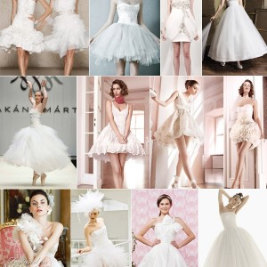Short wedding gown Short wedding Dresses mini skirts knee length tea length ballet length